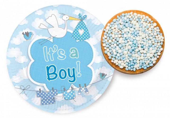 Borden Its a boy 18 cm 8 stuks