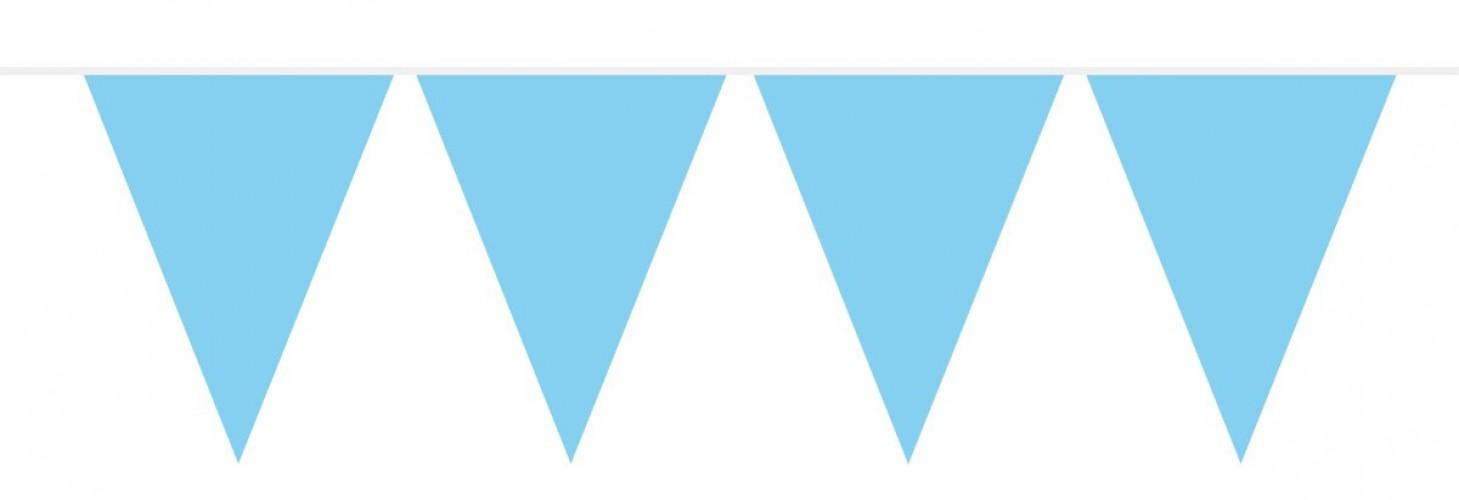 Vlaggenlijn effen blauw 10 mtr