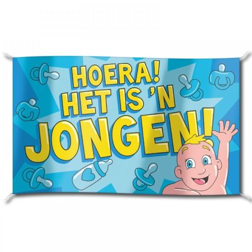 Mega vlag 'Het is een jongen'
