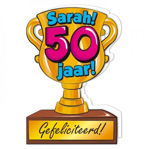 Trofee wenskaart Sarah