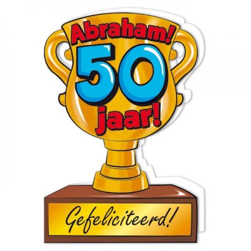Trofee wenskaart Abraham