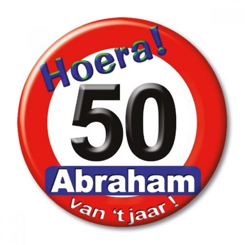Button Abraham verkeersbord klein