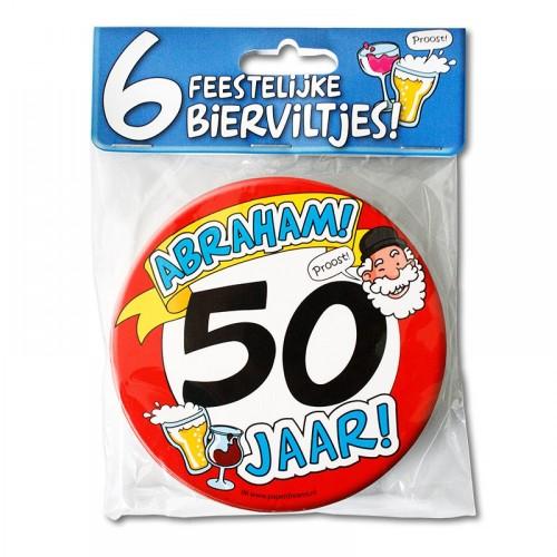 Abraham bierviltjes (6 stuks)