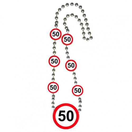 Ketting verkeersbord 50