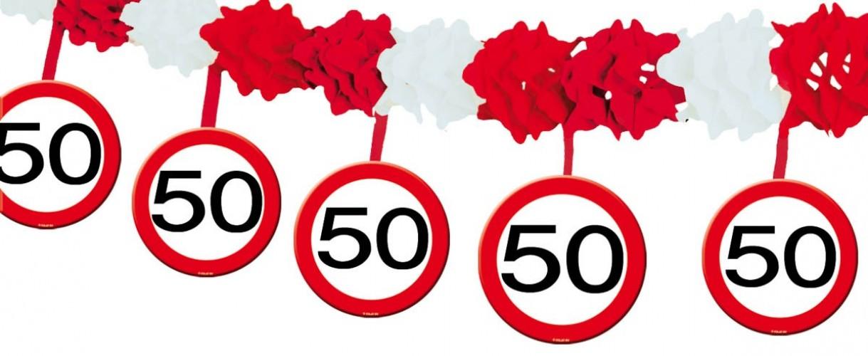 Slinger onderhangend verkeersbord 50