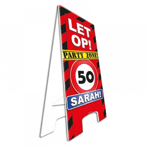 Waarschuwingsbord Sarah