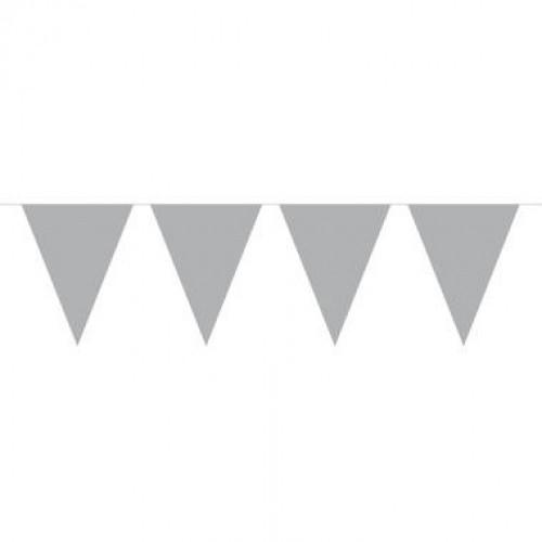 Vlaggenlijn Zilver 10 mtr