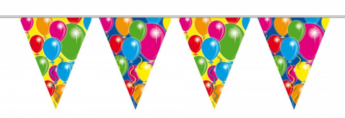 Vlaggenlijn balonnen 10 meter