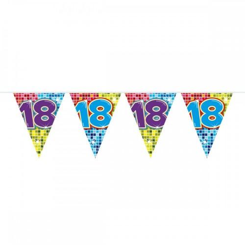 Vlaggenlijn mini Birthday Blocks 18 jaar, 3 mtr