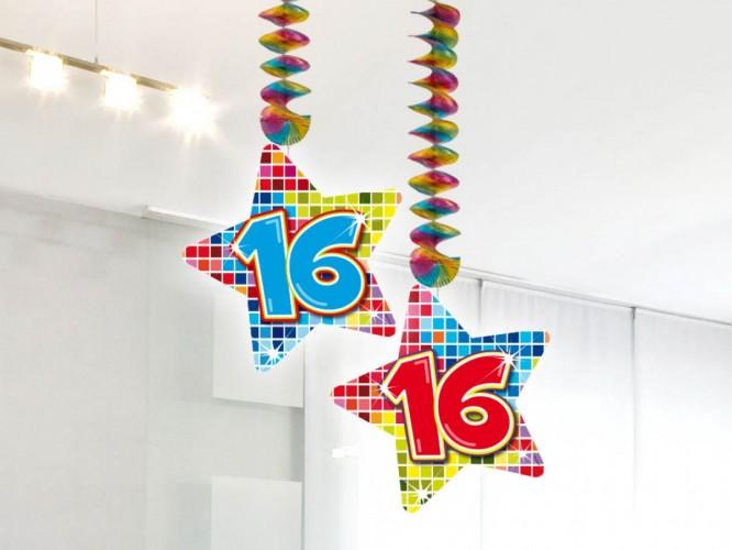 Hangdecoratie Birthday Blocks 16 2 stuks