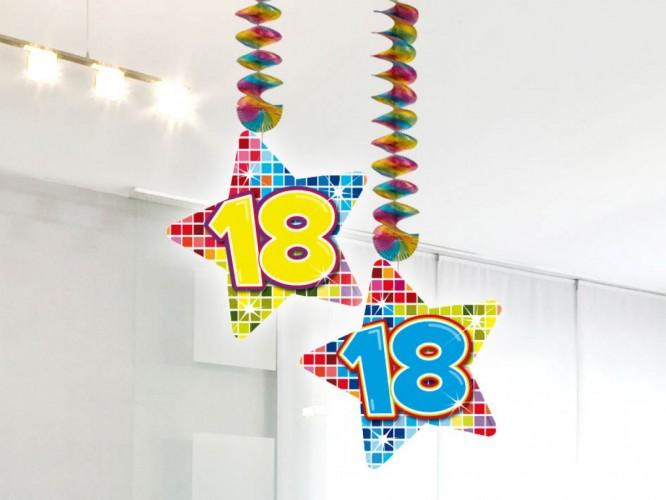 Hangdecoratie Birthday Blocks 18 2 stuks