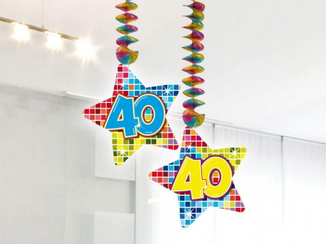 Hangdecoratie Birthday Blocks 40 2 stuks