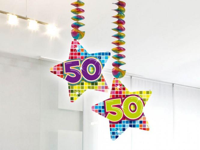 Hangdecoratie Birthday Blocks 50 2 stuks