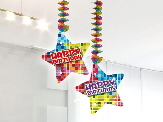 Hangdecoratie Birthday Blocks Happy Birthday 2 stuks