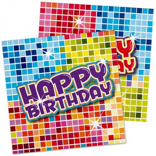 Servetten Birthday Blocks 16 stuks