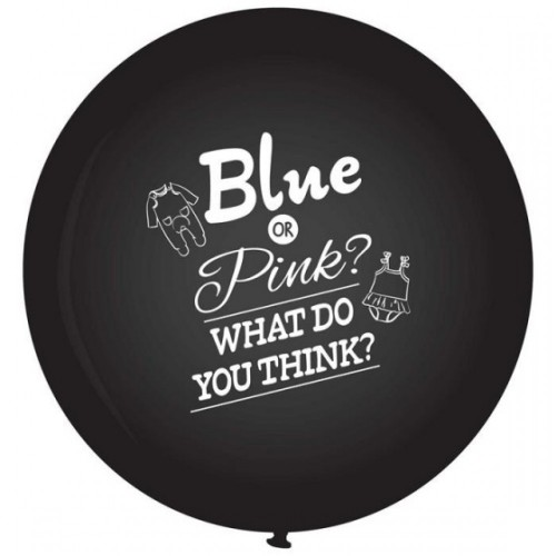 Blue or Pink Gender Reveal ballon XXL