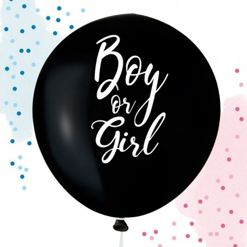Gender reveal ballon 60 cm Boy or Girl