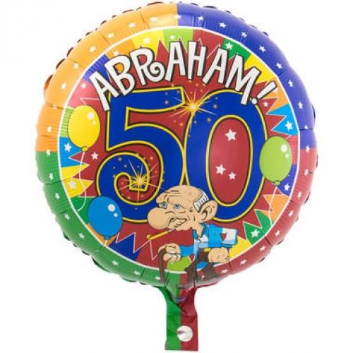 50 Jaar Abraham Knalfeest folieballon 43cm