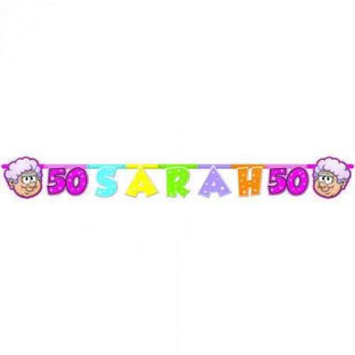 50 jaar Sarah Regenboog Letterslinger 1,3 mtr