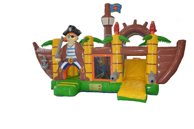 Springkussen multiplay piratenboot