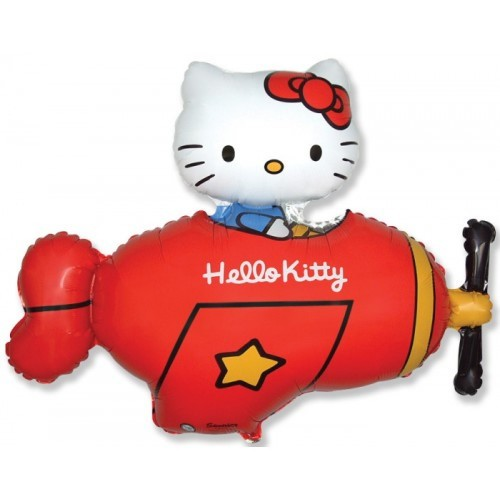 Folieballon Hello Kitty Plane Red 81 cm