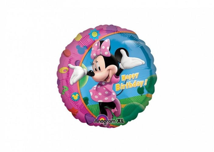 Folieballon Minnie Mouse Happy Birthday 45 cm
