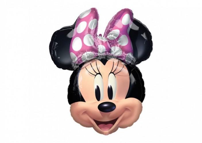 Folieballon Minnie Mouse Hoofd 66 cm